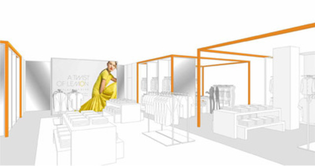 Rendering of Joe Fresh shop at jcpenney (CNW Group/Loblaw Companies Limited - Joe Fresh Style and PC Home Division)