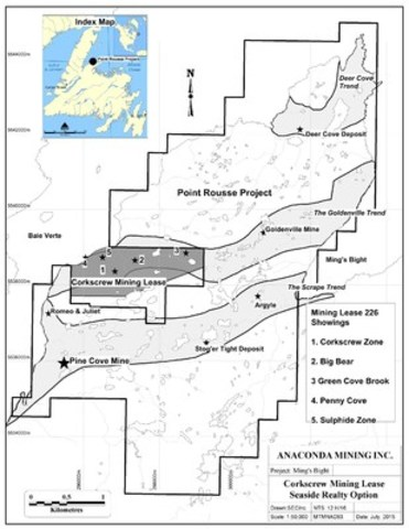 Exhibit A - Corkscrew Mining Lease Seaside Realty Option (CNW Group/Anaconda Mining Inc.)