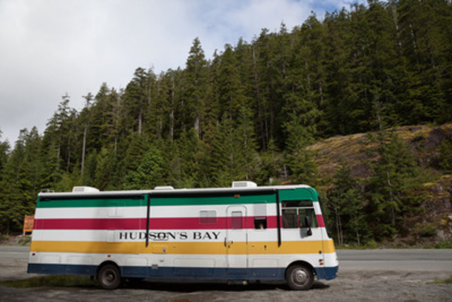 Hudson's Bay's Project Adventure custom-branded RV in its signature Stripes. (CNW Group/Hudson's Bay Company)
