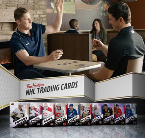 Sidney Crosby et Nathan MacKinnon surprennent les invités et appuient le lancement des cartes à jouer de la LNH(MD) Série des Collectionneurs Tim Hortons (Groupe CNW/Tim Hortons)