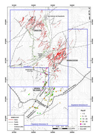 Vena Resources Inc. - Vena Regains Control of the 18,900 Hectare Amantina Property Adjacent to the Esquilache Silver Project in Peru (CNW Group/Vena Resources Inc.)