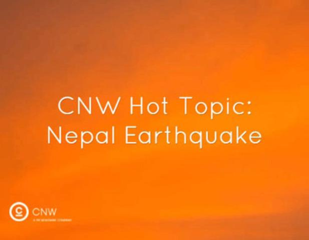 Nepal earthquake news on newswire.ca  (CNW Group/CNW Group Ltd.)