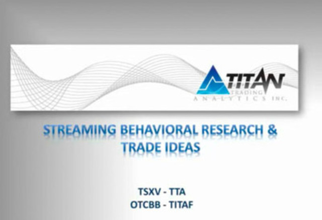 Video: Titan Trading Analytics - Streaming Behavioral Research & Trade Ideas