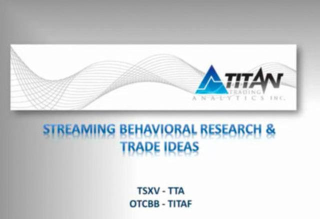 Video: Titan Trading Analytics - Streaming Behavioral Research & Trade Ideas