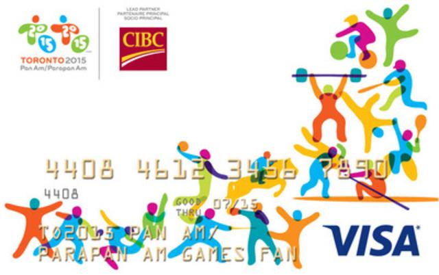La Banque CIBC, partenaire principal, présente une carte-cadeau prépayée CIBC Visa des Jeux panaméricains et parapanaméricains (Groupe CNW/Banque Canadienne Impériale de Commerce)