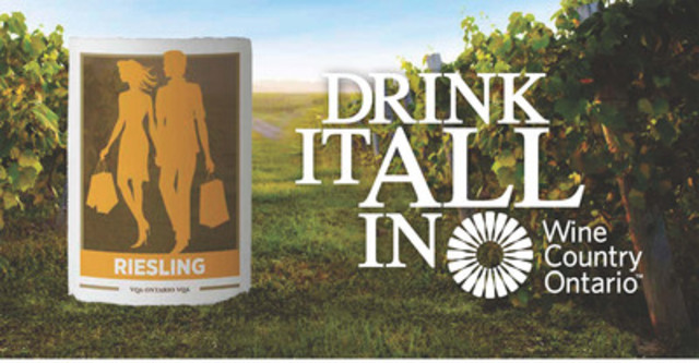 """""""Drink It All In"""" Billboard #2 - Relaxing and Shopping in Wine Country Ontario (CNW Group/Wine Country Ontario)"""