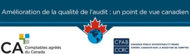 Un troisième document de consultation est publié dans le cadre de l'initiative «Amélioration de la qualité de l'audit», lancée par le Conseil canadien sur la reddition de comptes et l'Institut Canadien des Comptables Agréés. Les points de vue obtenus lors de ce processus de consultation permettront de mieux connaître les opinions des parties prenantes canadiennes sur les propositions de réforme de l'audit faites à l'international. (Groupe CNW/L'Institut Canadien des Comptables Agrees)