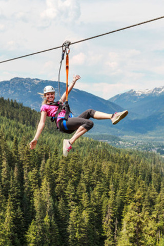 Flying High with Ziptrek Ecotours - Whistler, BC. (CNW Group/Ziptrek Ecotours Inc.)