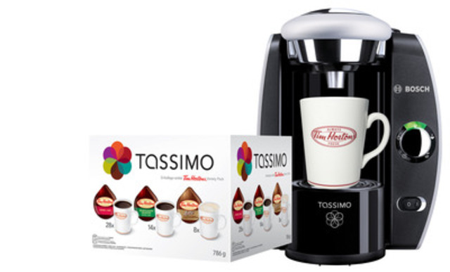 Tim Hortons and TASSIMO brew the perfect Father's Day gift! Beginning June 12 at 2 p.m. local time, buy a $40 Tim Hortons TASSIMO T DISC Variety Pack and receive a TASSIMO brewer at participating restaurants until supplies last. (CNW Group/Tim Hortons)