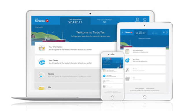 The new TurboTax Free: Complete your tax return anytime, anywhere, from any device. Completely free for most tax situations and features Auto-Fill My Return. (CNW Group/Intuit Inc.)