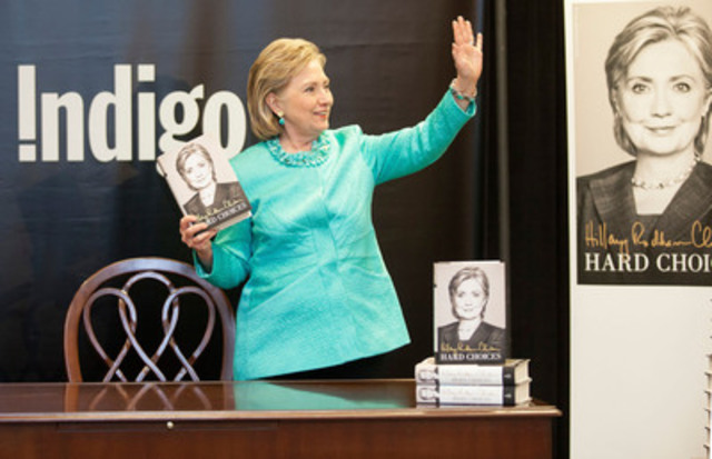 "Hillary Rodham Clinton does a meet and greet with fans, while signing her new book ""Hard Choices"", ..."