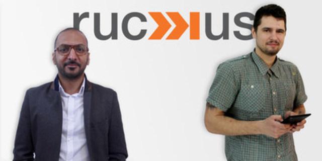 Introducing Moe Arora & Serge Leshchuk to ruckus digital (CNW Group/ruckus digital)