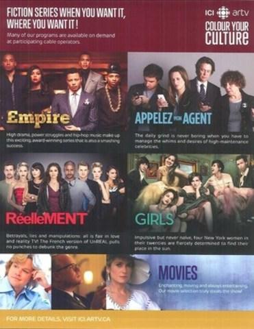 ANNEXE 2 : Document de promotion pour ICI ARTV (Groupe CNW/Groupe TVA)