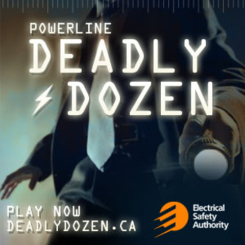 Solve the Deadly Dozen case files today! (CNW Group/Electrical Safety Authority)