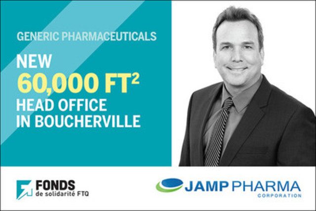 JAMP Pharma's growth supported by Fonds de solidarité FTQ (CNW Group/Fonds de solidarité FTQ)