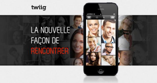 Avec la nouvelle application mobile de TWIIG, rencontrez des gens, en temps réel, partout où vous êtes, à n'importe quel moment, ne vous aura jamais paru si facile! (Groupe CNW/Twiig.com)