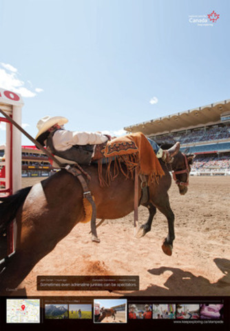 The Calgary Stampede, set to mark its 100th anniversary this year, is one of 24 members of the Signature Experiences Collection® featured in the Canadian Tourism Commission's latest ad campaign in Australia. (CNW Group/Canadian Tourism Commission)