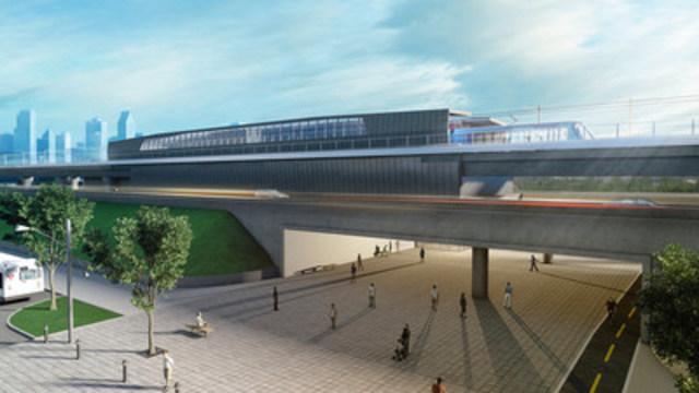 Représentation d'une station du nouveau réseau (Groupe CNW/CDPQ Infra)