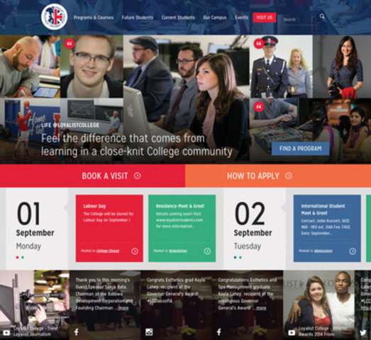 Loyalist College launches new fully responsive website (CNW Group/Loyalist College)