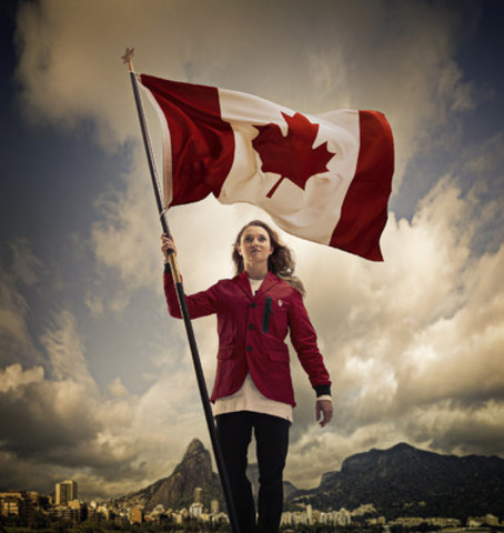 Rosie MacLennan, Team Canada Flag Bearer (Photo credit: Canadian Olympic Committee) (CNW Group/Canadian Olympic Committee)