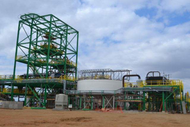Picture 3: Milling and Beneficiation Area with Pipework well Advanced (CNW Group/Largo Resources Ltd.)