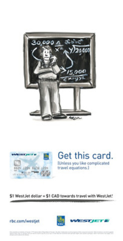 "WestJet has launched a new marketing campaign to promote its WestJet RBC World Elite MasterCard featuring original cartoon illustrations by legendary New Yorker magazine cartoonist Lee Lorenz."" (CNW Group/WestJet)"