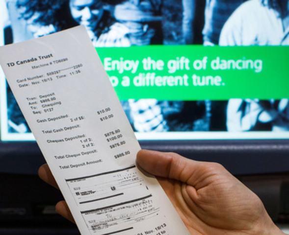 TD Canada Trust today announced its new ATM Green Machines® featuring touch screens, envelope-free deposits and the ability to view scanned cheque images and itemized cash on the transaction receipt. (Credit: PHILIP CHEUNG ) (CNW Group/TD Bank Group)