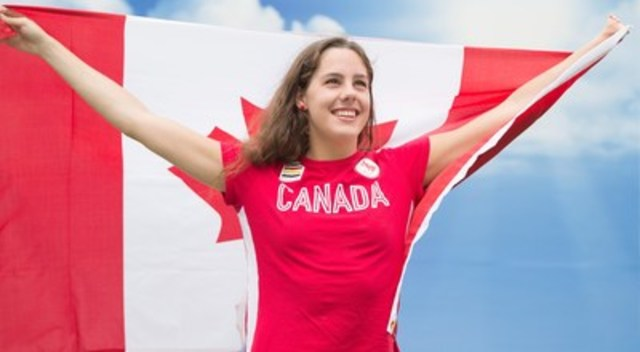 Aurélie Rivard nommée porte-drapeau du Canada pour la cérémonie de clôture. (Groupe CNW/Comité paralympique canadien (CPC))