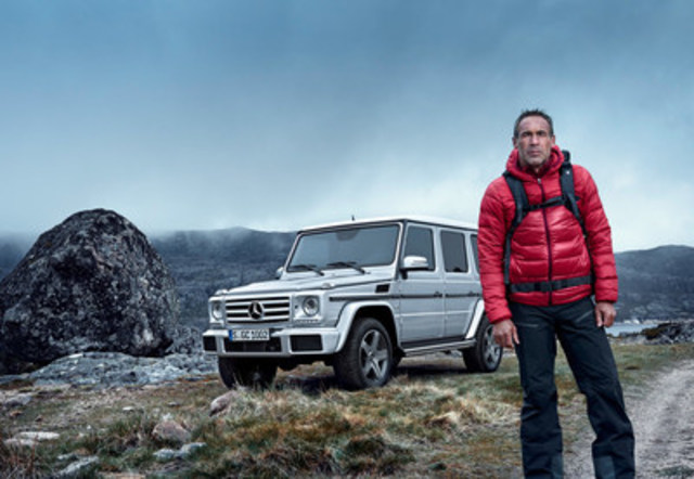 Mike Horn and the Mercedes-Benz G-Class. (CNW Group/Mercedes-Benz Canada Inc.)