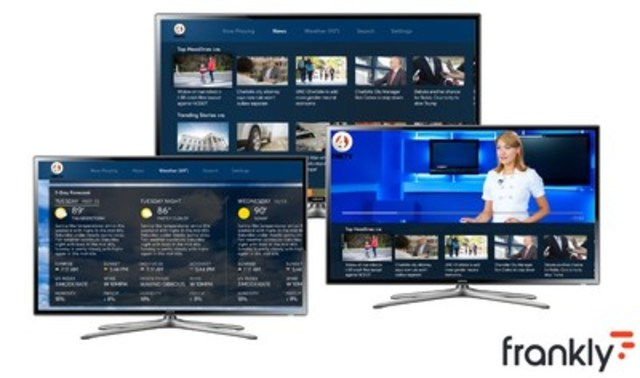 Frankly to showcase ground-breaking unified iOS, Android, and Apple TV native apps for broadcasters at NAB 2016 (CNW Group/Frankly Inc.)