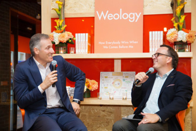 Tangerine president and CEO, Peter Aceto, celebrated the launch of his new leadership book, Weology, in Toronto last night alongside guest speaker Ron Tite, employees, clients and partners. (CNW Group/Tangerine)
