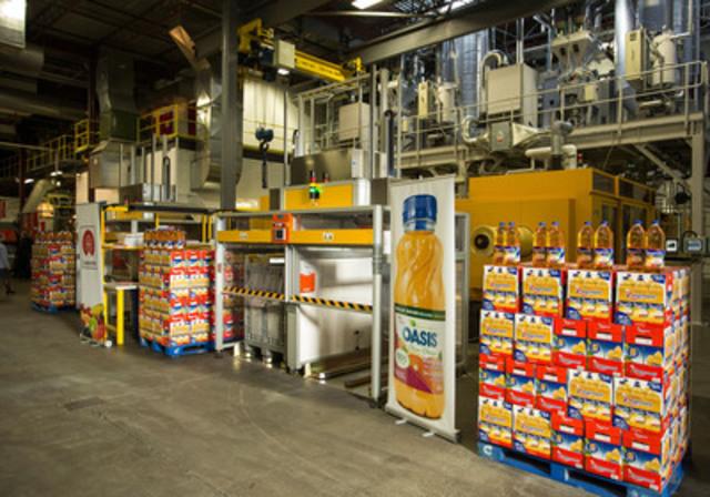 Nouvelles lignes de production de préformes de A. Lassonde inc., à Rougemont. (Groupe CNW/Industries Lassonde inc.)
