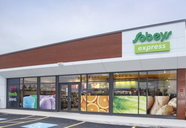 Sobeys launched its new Sobeys express banner in Atlantic Canada today featuring a fresh and inviting exterior and a new take on traditional convenience inside. (CNW Group/Sobeys Atlantic)