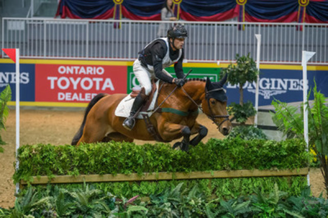 """""""Waylon Roberts of Port Perry, ON, won his record eighth $20,000 Horseware Indoor Eventing Challenge in front of a full house on Saturday night, November 7, of the Royal Horse Show® in Toronto, ON.""""  (CNW Group/Royal Agricultural Winter Fair)"""