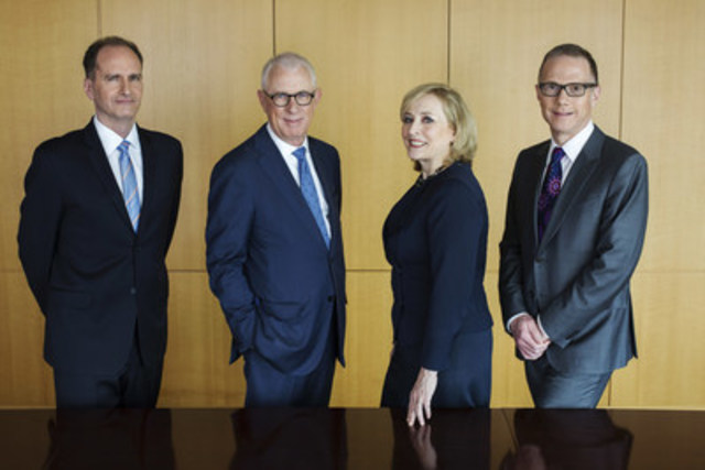 The four founding principals of Hansell McLaughlin Advisory are David Scott, Ron McLaughlin, Carol Hansell and Peter Block. (CNW Group/Hansell McLaughlin Advisory)