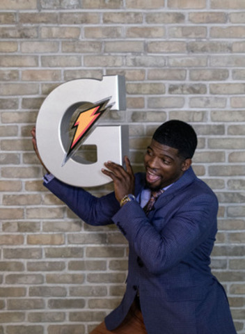 P.K. Subban, Canada's newest Gatorade athlete, celebrates joining team Gatorade. (CNW Group/PepsiCo Beverages Canada)