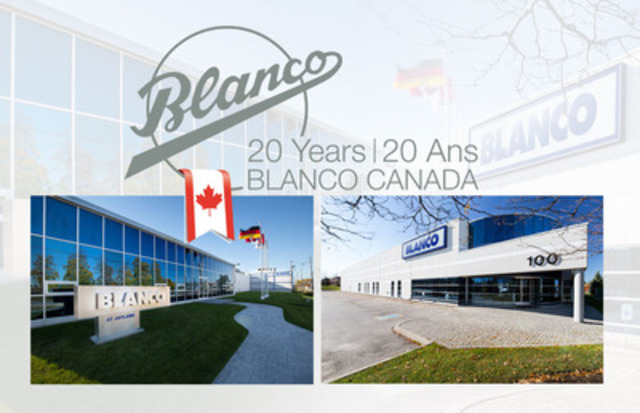 Blanco Canada celebrates its 20th Anniversary. (CNW Group/BLANCO Canada Inc.)