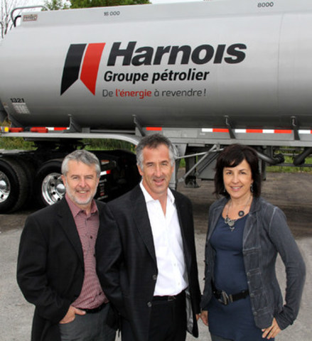 Mr Luc Harnois, Mr Serge Harnois and Ms Claudine Harnois (CNW Group/Harnois Groupe pétrolier)