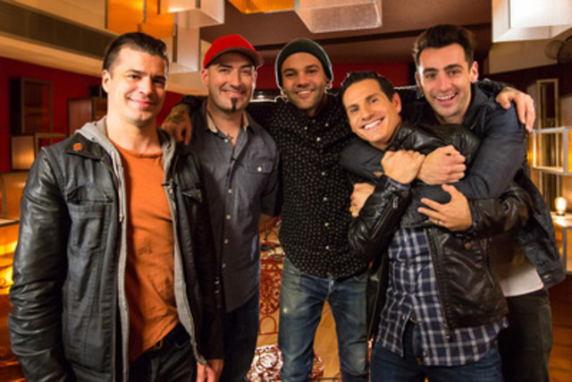 ET Canada's Rick Campanelli catches up with Hedley at The Orange Lounge. (CNW Group/Global Television)