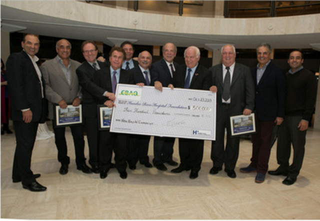 Founding members of the Calabrian Benevolent Association of Ontario donate $500,000 to Humber River Hospital. (CNW Group/Humber River Regional Hospital)