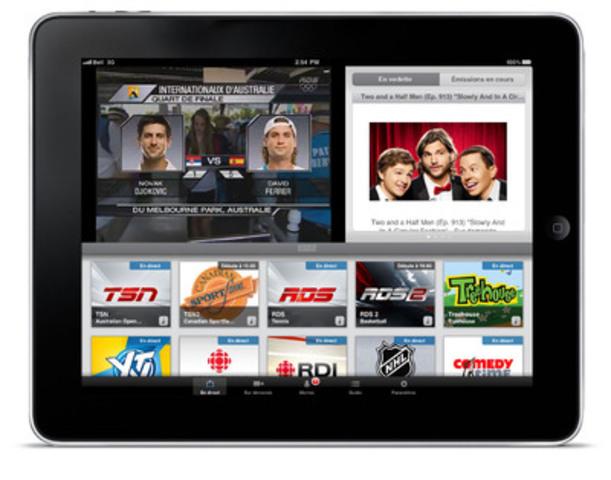 Bell annonce sa captivante programmation de sports disponible sur la Télé mobile de Bell (Groupe CNW/BELL CANADA)