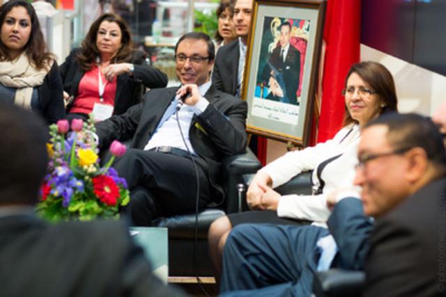 M. Abdelkader Amara, ministre de l'Industrie, du Commerce et des nouvelles Technologies du Maroc et Mme Nouzha Chekrouni, ambassadrice du Royaume du Maroc au Canada ont souligné hier l'importance des relations économiques et diplomatiques cinquantenaires entre le Maroc et le Canada lors d'une rencontre médiatique au SIAL CANADA à Toronto. (Groupe CNW/SIAL Canada)