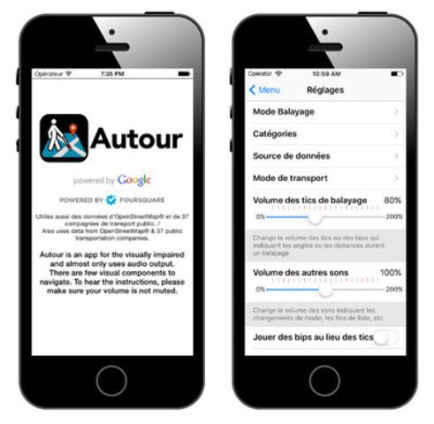 Une capture d'écran de l'interface convivial d'Autour. (Groupe CNW/Autorité canadienne pour les enregistrements Internet (ACEI))