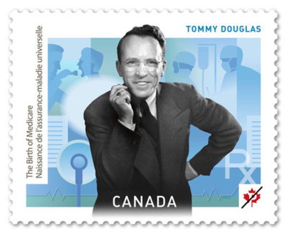 Tommy Douglas. (Groupe CNW/Postes Canada)