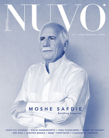 """Architecture is not about building the impossible, which we can do if we have enough money and enough tools and enough computers,"""" says architect Moshe Safdie in the winter 15th anniversary issue of NUVO Magazine. """"It is about building what is appropriate and about attaining beauty through such an approach."""" www.nuvomagazine.com. (CNW Group/NUVO Magazine Ltd.)"""