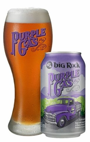 Big Rock Brewery's Purple Gas, fruit wheat ale, is back for a limited time (CNW Group/Big Rock Brewery Inc.)
