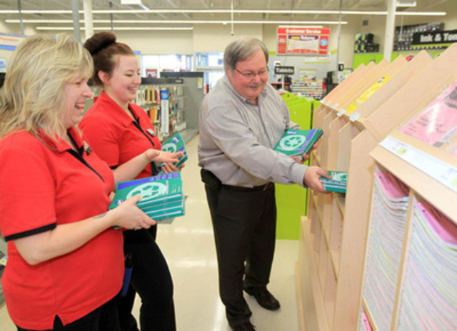 Steve Matyas, president of Staples Canada, completes today in Atlantic Canada the first leg of his seven-province tour of Staples stores. The company is preparing for the back-to-school season, its busiest period of the year. Some five million students are expected to return to public elementary or secondary schools in Canada this year. (CNW Group/Staples Canada Inc.)