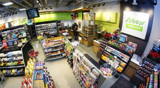 The fresh and inviting interior of Sobeys new convenience banner, Sobeys express, offers customers a new take on traditional convenience. (CNW Group/Sobeys Atlantic)