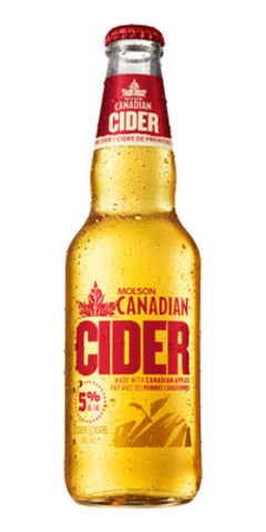 Molson Canadian breaks new ground with the launch of Molson Canadian Cider (CNW Group/Molson Coors Brewing Company)