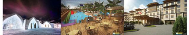 L'Hôtel de Glace sera intégré au plus important « resort » de l'Est du Canada : le Village Vacances Valcartier (Groupe CNW/Hôtel de Glace Québec Canada inc.)